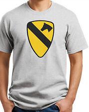 1st Cav Cavalry T-shirt.Gray,Khaki,White,Yellow. S-3X Free Ship to USA. Cotton.
