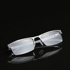 Mens Reading Glasses Readers Rectangular Business Metal 1.5 2.0 2.5 3.0 3.5 4.0