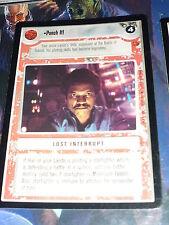 CCG STAR WARS CLOUD CITY RARE CARD PUNCH IT! STARWARS DECIPHER R