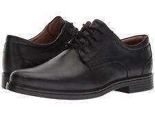 Clarks UN ALDRIC LACE Mens Black Leather 32677 Lace Up Comfort Oxford Shoes