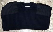 Genuine British Navy Commando Wool Mix Jumper. Crew Neck. Very Warm - All Sizes