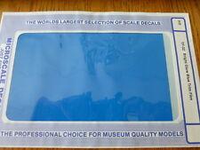 Microscale Decal #TF-32 / Trim Film / Size-7-1/4 x 4-1/2-Bright Glow Blue