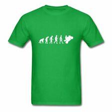 Motorbike Evolution Mens GREEN T-Shirt/Funny Super bike/Motorcycle/Sports/Biker
