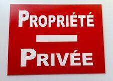 """plaque, panneau """"PROPRIÉTÉ PRIVÉE"""" signalétique"""