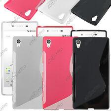 Housse Etui Coque Silicone Motif S-line Gel Souple Sony Xperia Z5, Z5 Dual, Film