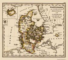 Old Scandinavia Map - Denmark and Iceland - Stieler 1852 - 23 x 26.33
