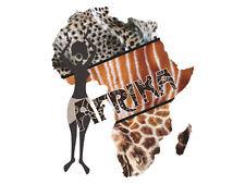Wandsticker Wandtattoo afrikanische Welt für Wohnzimmer Afrika Frau Muster Deko