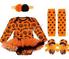 0-1 Years Baby Girls Halloween Party Costume Outfits Kids Pumpkin Tutu Dress Set