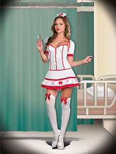 Sexy Adult Halloween Nurse Jess Bendover Hospital Caretaker Costume