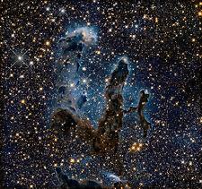 Hubble Telescopio-nueva visión de los pilares de la creación del espacio cartel impresión