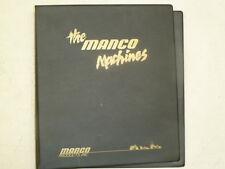 MANCO GO-KARTS MINI BIKE ATV DEALER'S BINDER MANUAL THREE RING