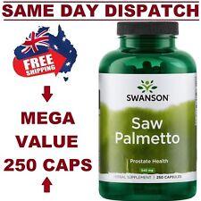 SAW PALMETTO PREMIUM BRAND Swanson 250 Capsules PROSTATE AID AUS STOCK FAST SHIP