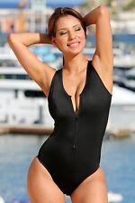 UjENA Women`s Swimwear X106 Designer Zip One Piece Bathing Suit Sexy 1-PC NWT