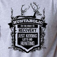 HUNTAHOLIC funny T-Shirt hunting buck deer outdoors lifestyle season