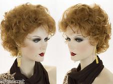 Short Blonde Grey Brunette Red Wavy Curly Wigs