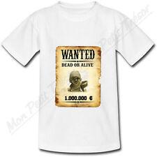 T-shirt Bébé Cadre Photo Affiche Wanted Western personnalisé avec votre photo