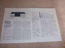 Pioneer SX-7 Receiver Review, 2 pgs, 1982, Rare Review!