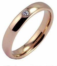 4mm Cubic Zirkonia Rotgold Beschichtet Ring Wolframkarbid Ehering