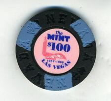 1957-1988 The Mint Las Vegas 100 Dollar Poker Chip