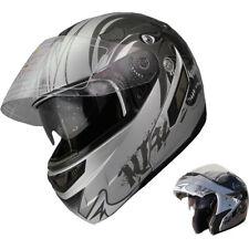 Modular Flip-up Motorcycle-Helmet-Dual visor S18 +Free Chrome Tinted Shields
