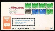 FDC Philato met postzegelboekje 33b + aanhangsel