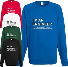 I'm an engineer Felpa MAI SBAGLIATO GADGET smanettone Maglione COMPLEANNO
