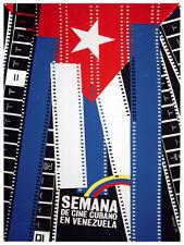 Semana de cine Cubano en Venezuela vintage POSTER.Graphic Design.Art Decor.3745