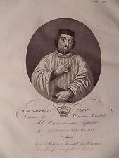 Beato Giovanni Olini Piovano acquaforte originale 1832 Contarini Venezia