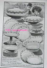 PUBLICITE A LA PAIX porcelaine service anglais 1909 PUB