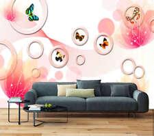 Soft Fresh Butterfly 3D Full Wall Mural Photo Wallpaper Printing Home Kids Decor