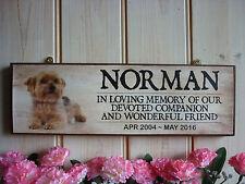 PERSONALISED YORKSHIRE TERRIER IN MEMORY PLAQUE GARDEN SIGN YORKIE MEMORIAL SIGN
