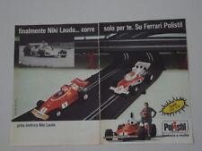 advertising Pubblicità 1976 POLISTIL/NIKI LAUDA/FERRARI
