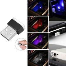 USB Mini Flexible Neon Atmosphere Tube LED Car Interior Light Strip Lamp RD845