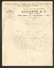 "PARIS (XIV°) ATELIERS de GENTILLY (94) CUIRS & PEAUX ""ALICANTE & Cie"" en 1923"