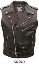 Men's Genuine Premium Buffalo Leather Motorcycle Vest/Jacket