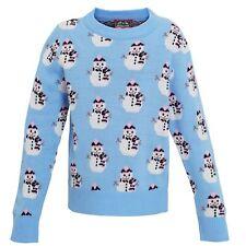 Christmas Shop Childrens Girls Snowman Design Knitted Jumper