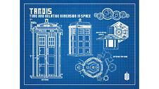 Doctor Who Tardis BLUEPRINT Arte Grafica Stampa Poster T423