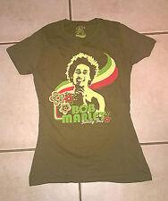 Bob Marley Feeling Irie GREEN Juniors Ladies T-Shirt