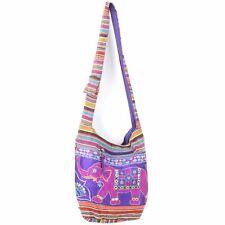 Bag shoulder sling LOUDelephant embroidered elephant sequins cotton hippie hobo
