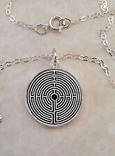 Sterling Silver 925 Pendant Necklace Labyrinth Greek mythology