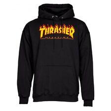 Thrasher Flame Logo Sweat à capuche-Noir