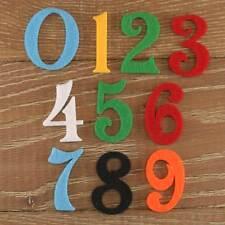 Numéro de police Victoria set 3mm feutre numéros 0-9 10 caractères tailles 5-12cm