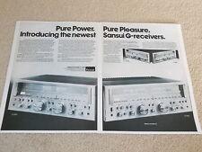 Sansui G-7500, G-5500 Receiver Ad, 1981, 2 pages, Articles, Info