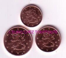 Pièces de 1,2,5cts euros de Finlande 2012.
