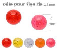Bille seul de 4 mm pour piercing de 1.2 mm nez arcade labret hélix 1.2x4mm