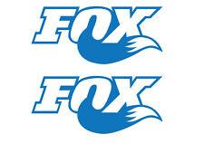 2 FOX SHOCK SUSPENSION STICKER - SET OF 2 SHOCKS DECALS - 18 DIFFERENT COLOURS