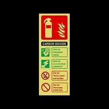 Dióxido de carbono (CO2) Extintor Id fotoluminescente señal, etiqueta (fe31)