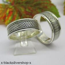 Bandring - Ring 925 Silber 925 - Flecht Muster Herren Damen Freundschaftsring