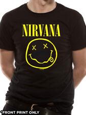 Official T Shirt NIRVANA- SMILEY All Sizes Black Mens Licensed Merch New