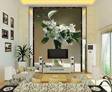 3D Glass vase flowers 7677 Wall Paper Wall Print Decal Wall Deco AJ WALLPAPER